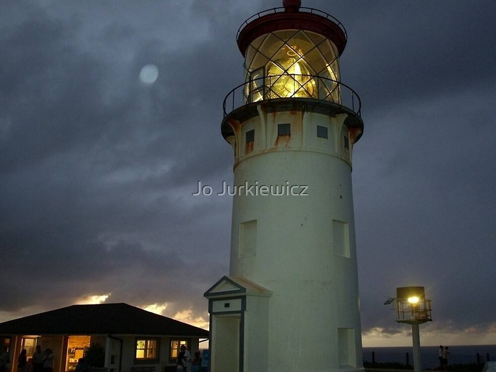 Kilauea Lighthouse at Dusk by Jo Jurkiewicz