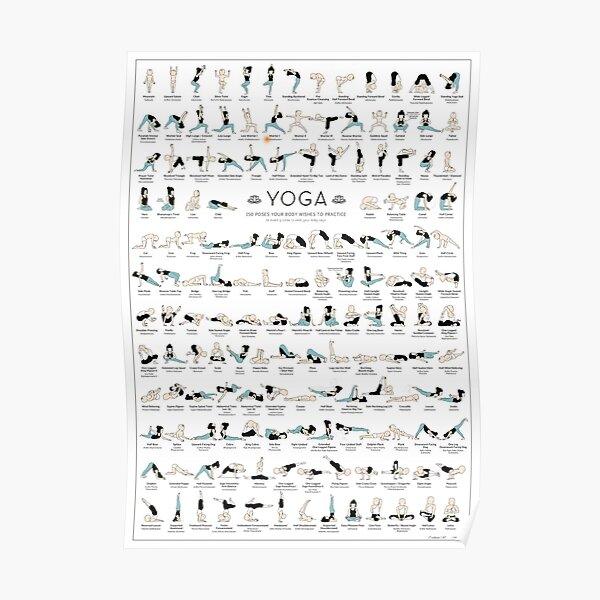 Yoga-Plakat - 150 Jahrgang Poster