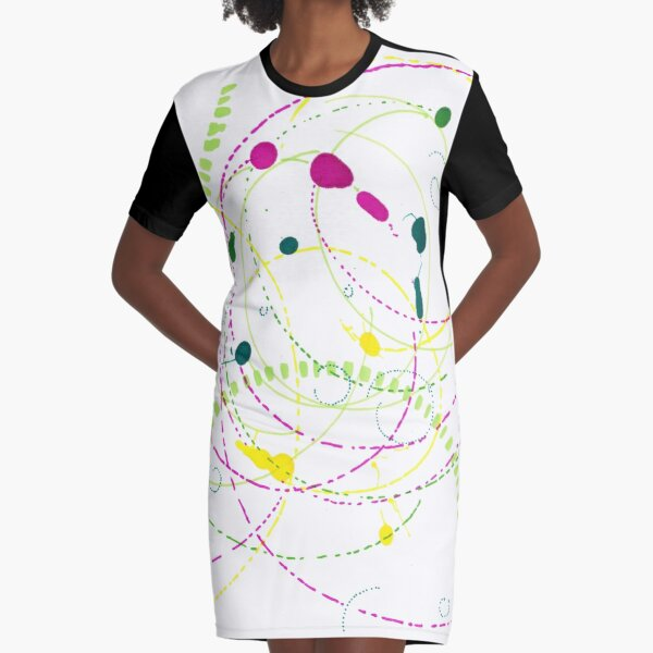Echoes of Time Graphic T-Shirt Dress
