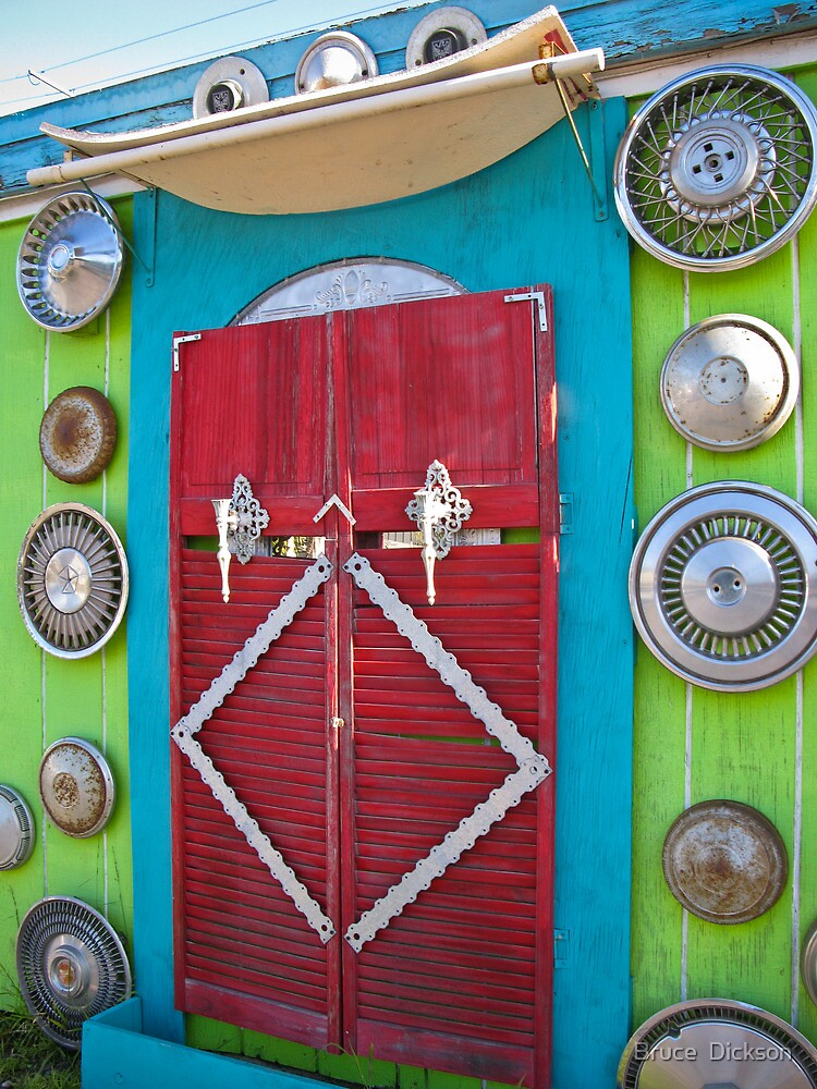 heaven's (hubcap) gate by Bruce  Dickson