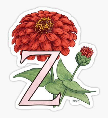 Z is for Zinnia Sticker
