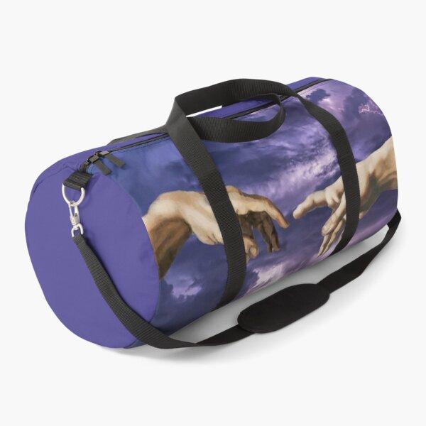 The creation of Adam - lightning purple  Duffle Bag