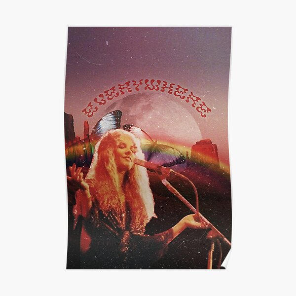 fleetwood mac stevie nicks everywhere collage Poster