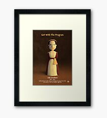 Ada Lovelace - Get With The Program Framed Print