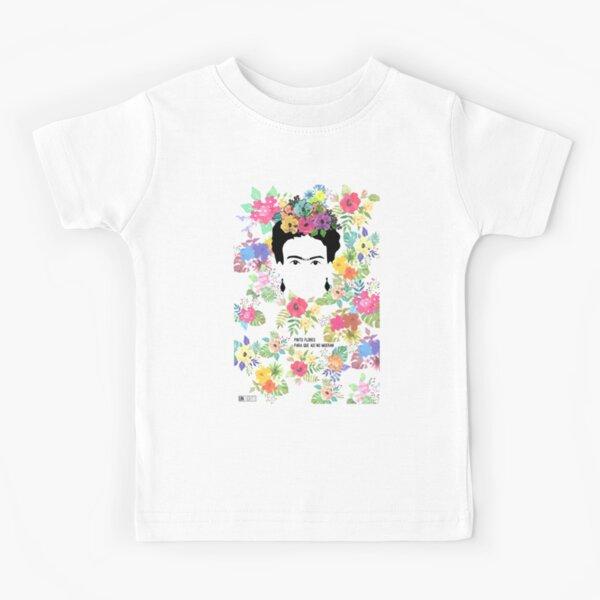 Frida Khalo Pinto flores Camiseta para niños