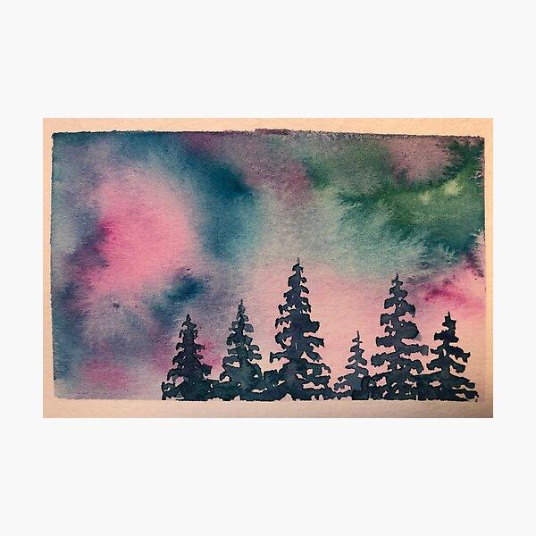 Pastel Tie Die Forest Photographic Print