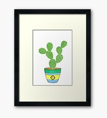 Call Me Cactus Framed Print