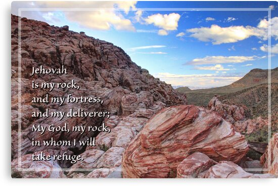 Jehovah is My Rock (Card) by Tracy Friesen