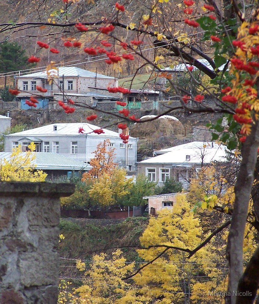 Autumn in Stepantsminda, Georgia by Martina Nicolls