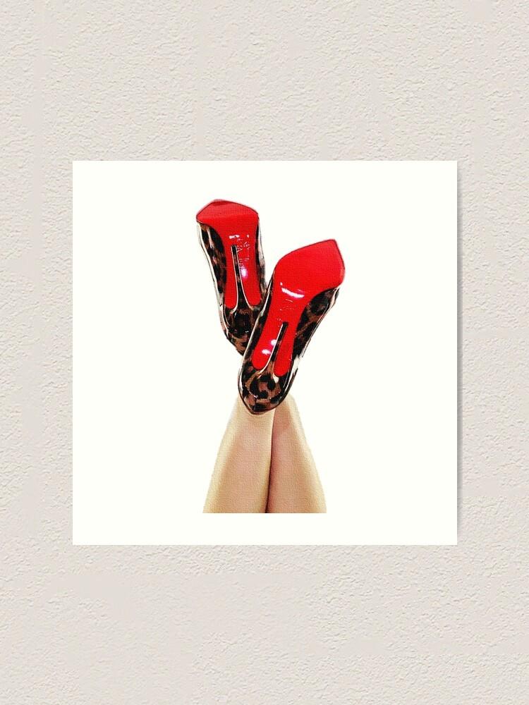 red bottom leopard heels