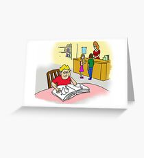 School Poster  education  homework study Greeting Card
