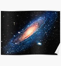 Space m31 spyral galaxy art Poster