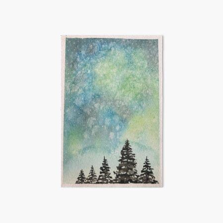 Aurora Sky Forest Art Board Print