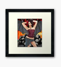 Devils play Thing Framed Print