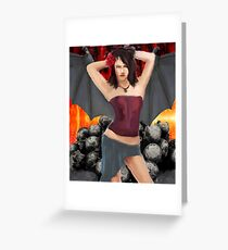 Devils play Thing Greeting Card