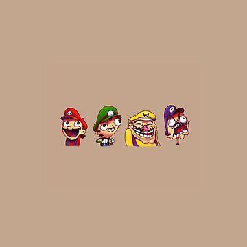 Mario, Luigi, Wario & Waluigi by BrandonDanis
