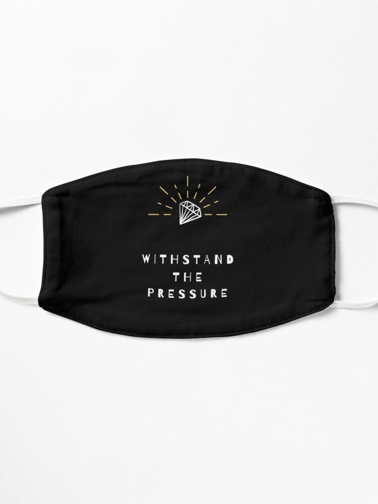 Alternative Ansicht von Choi.ce - Withstand The Pressure Diamant Motivation Zitat  Maske