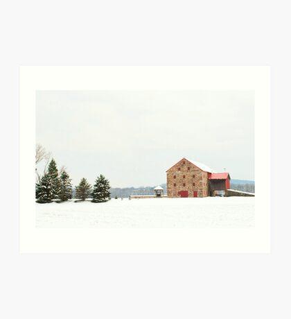 A very unique barn Art Print