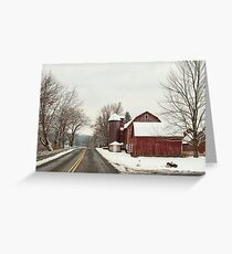 along the country road Greeting Card