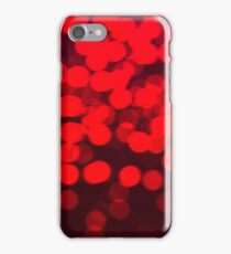 Defocused abstract red background iPhone Case/Skin