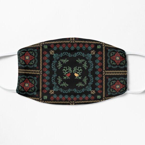 Romanian floral rug birds Flat Mask