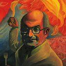 Salman Rushdie by Adrian Covert