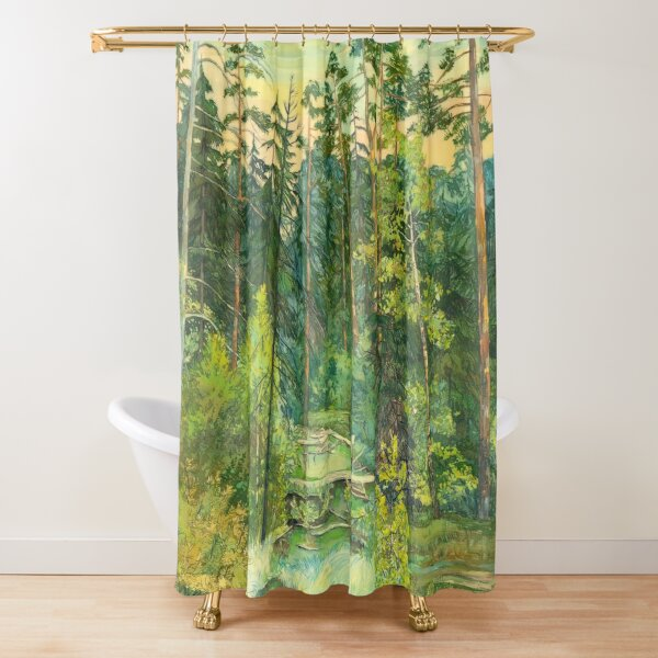 Forest paintingwatercolor Shower Curtain