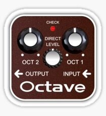 Octave Effect Pedal Sticker