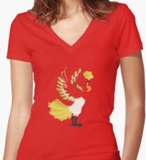 No. 250 Women's Fitted V-Neck T-Shirt