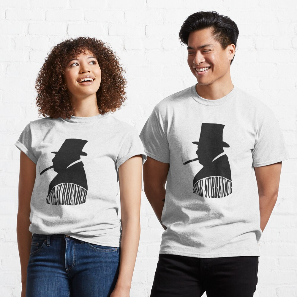 "Winston Churchill ""Never Surrender"" Classic T-Shirt"