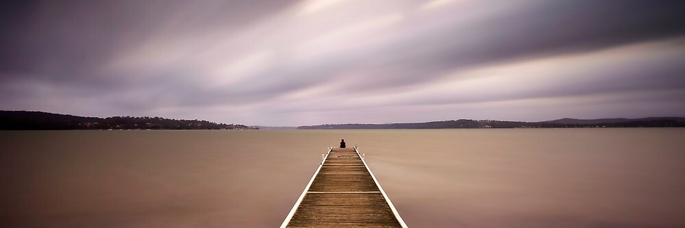 Warners Bay Jetty by Maxwell Campbell