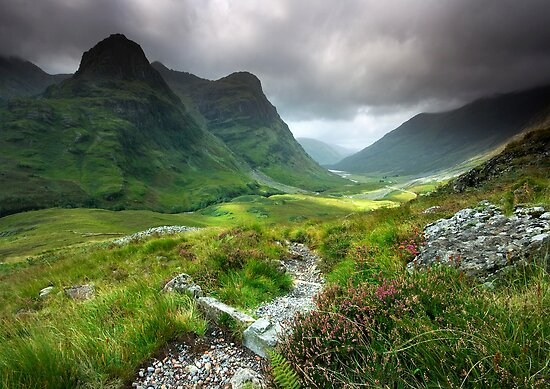 Quot Scotland Glencoe Valley Summer Quot Posters By Angie Latham