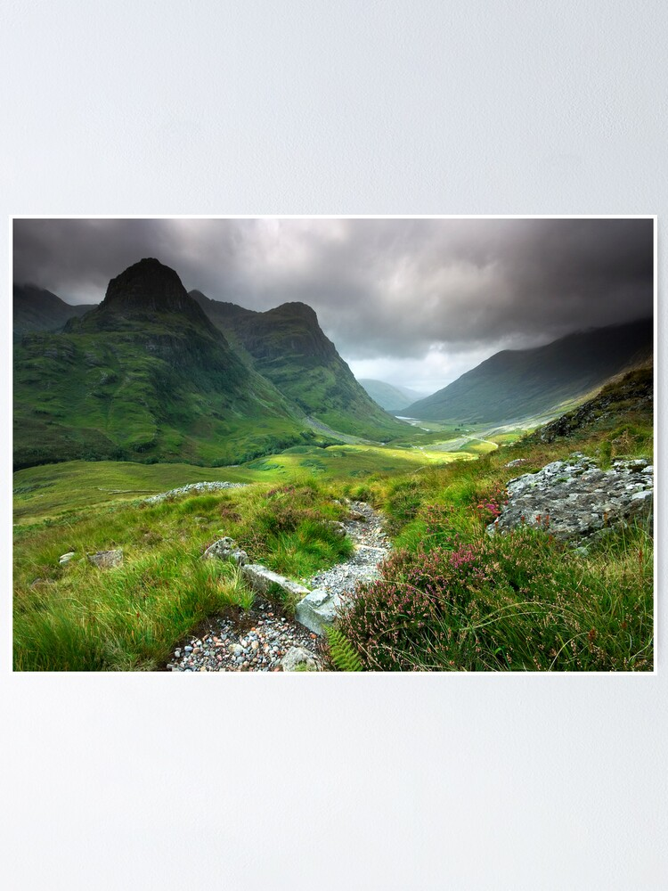 Alternate view of Scotland: Glencoe Valley Summer Poster