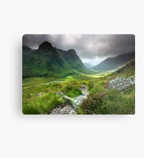 Scotland: Glencoe Valley Summer Metal Print