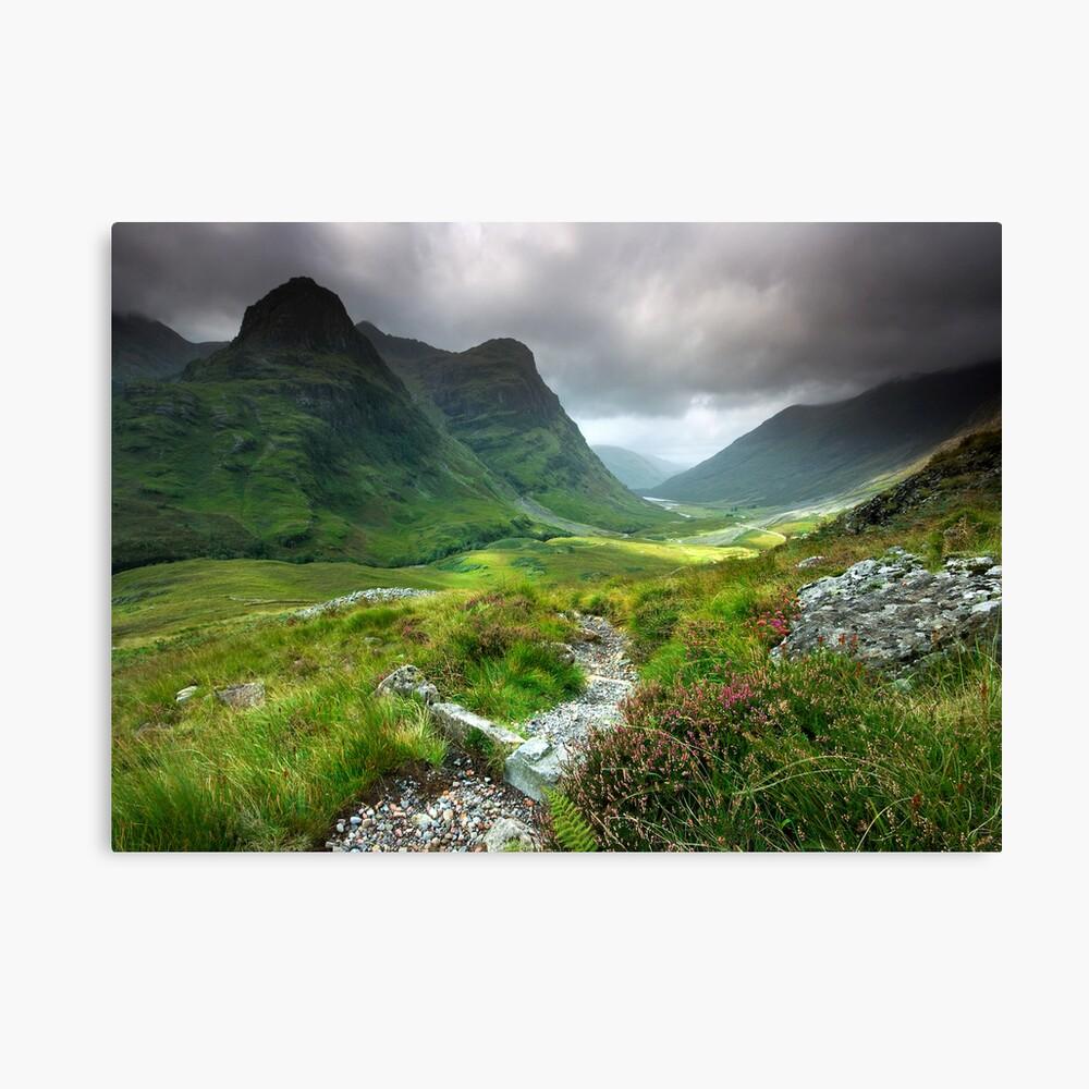 Scotland: Glencoe Valley Summer Canvas Print