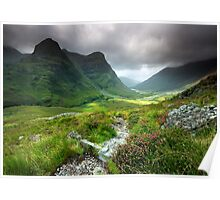 Scotland: Glencoe Valley Summer Poster