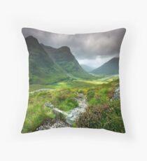 Scotland: Glencoe Valley Summer Throw Pillow