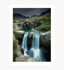 Isle of Skye : Twin Fairy Falls Art Print