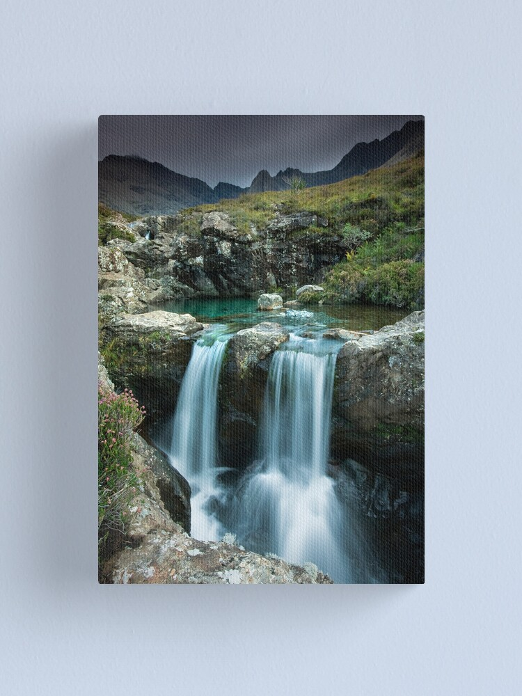 Alternate view of Isle of Skye : Twin Fairy Falls Canvas Print