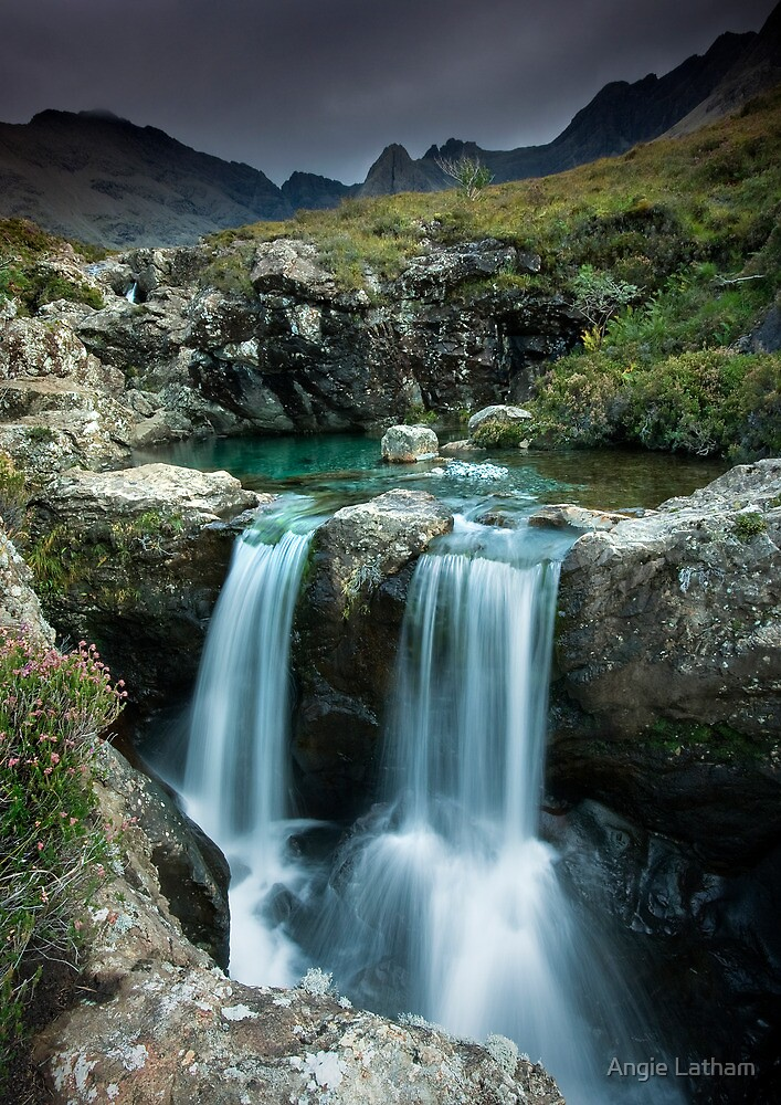 Isle of Skye : Twin Fairy Falls by Angie Latham
