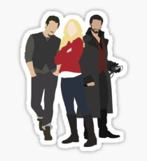 Neal, Emma, and Hook Sticker