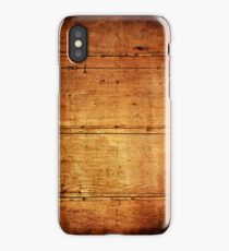 Vintage wooden wall iPhone Cases iPhone Case