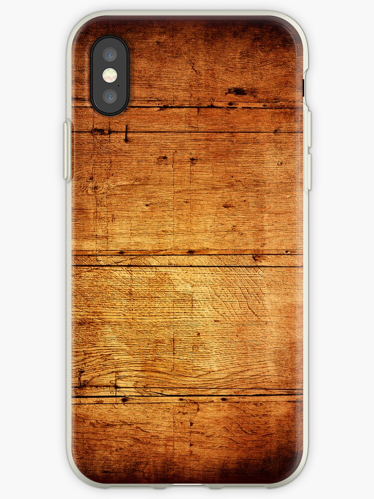 Vintage wooden wall iPhone Cases by ilolab