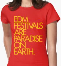 EDM Festivals Are Paradise On Earth (Mustard) T-Shirt