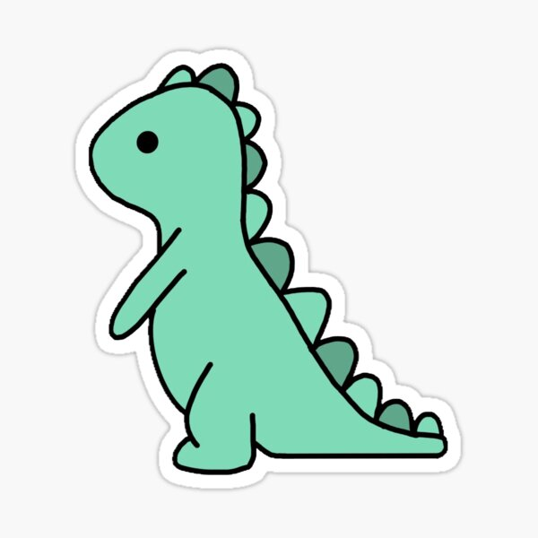 Green Dinosaur Sticker