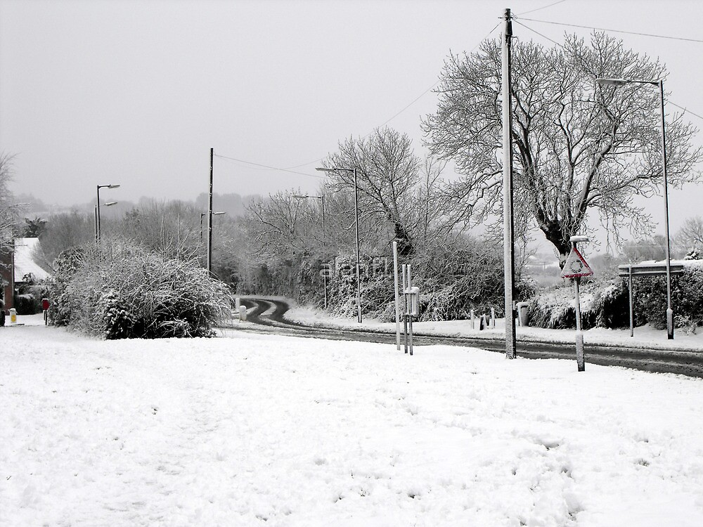 Snowy Road by alanf1