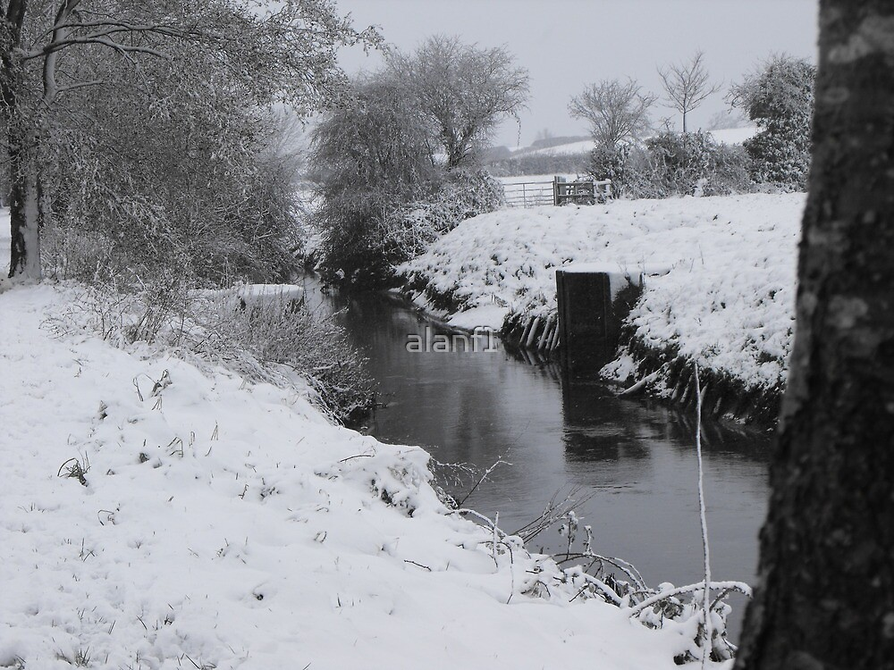 River Banwell in winter by alanf1