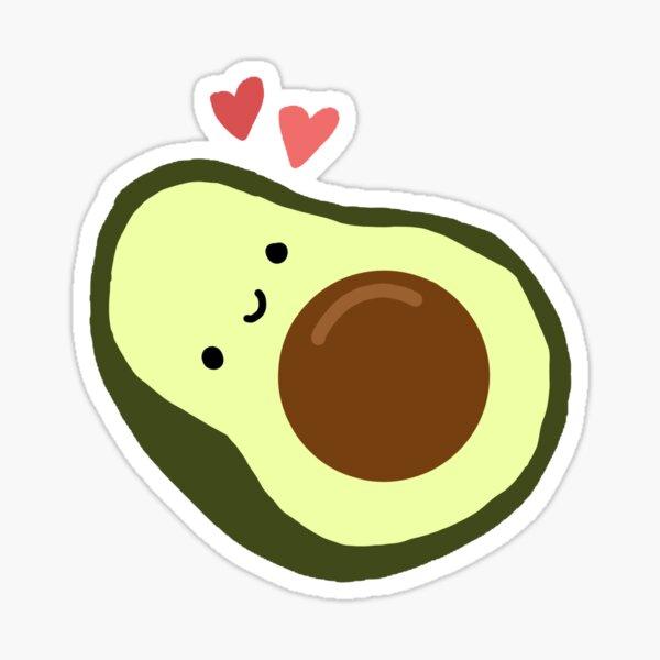 Happy Avocado With Hearts  Sticker