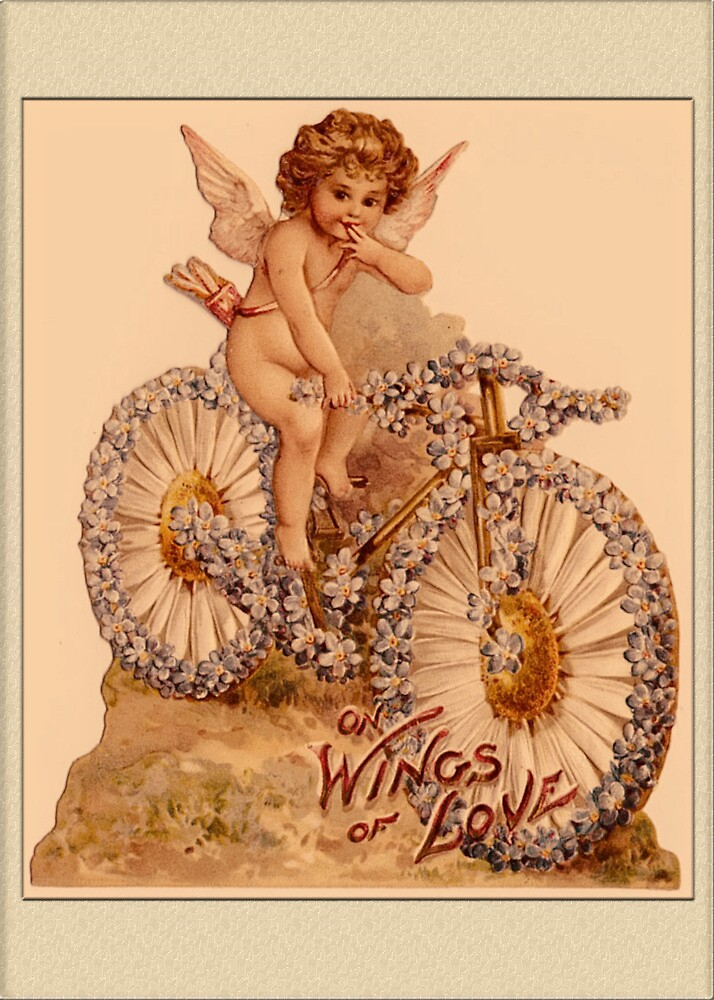 Valentine Card-Wings of Love by Yesteryears