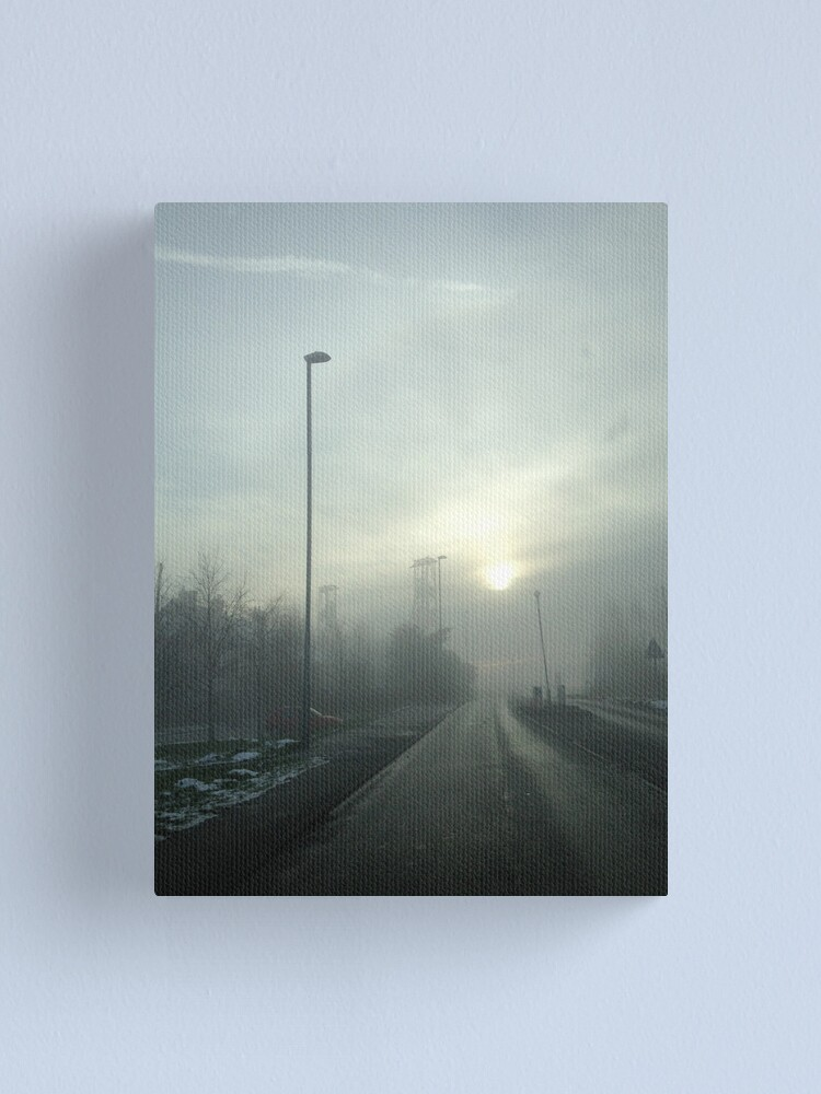 Alternate view of Clipstone Colliery in the fog Canvas Print